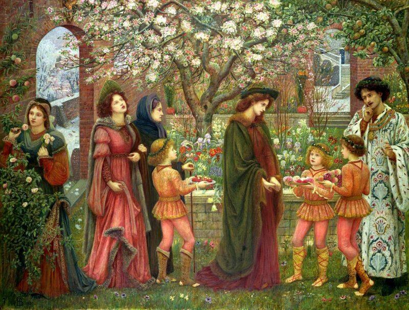 Marie Spartali Stillman, Il giardino incantato di messer Ansaldo