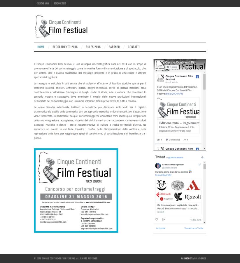 Cinque Continenti Film Festival